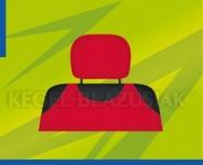 Potahy opěrek hlavy (červené)