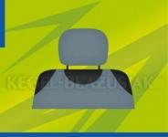 Potahy opěrek hlavy (světle šedé)