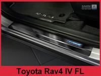 Prahové lišty Toyota Rav4 2016 (hybrid, tmavé)